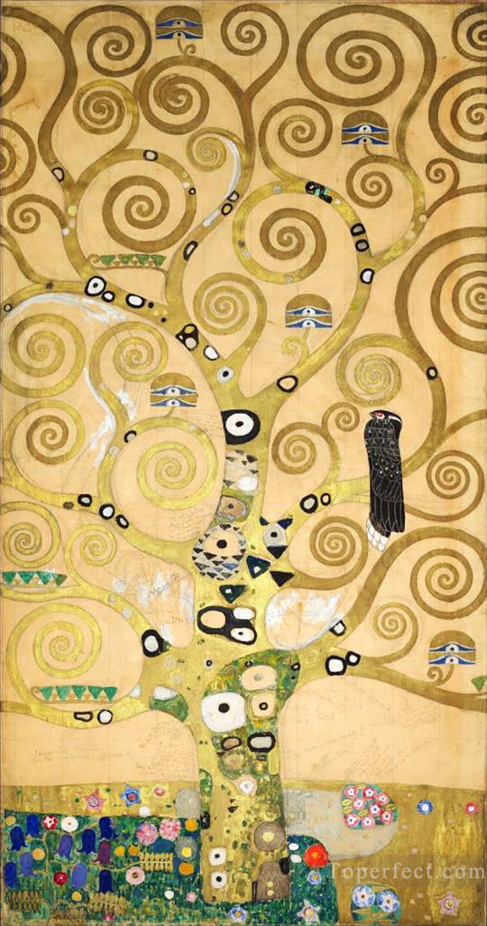The Tree of Life Stoclet Frieze center Gustav Klimt gold Oil Paintings