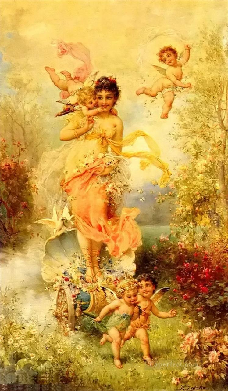 The Goddess Of Spring Hans Zatzka Oil Paintings