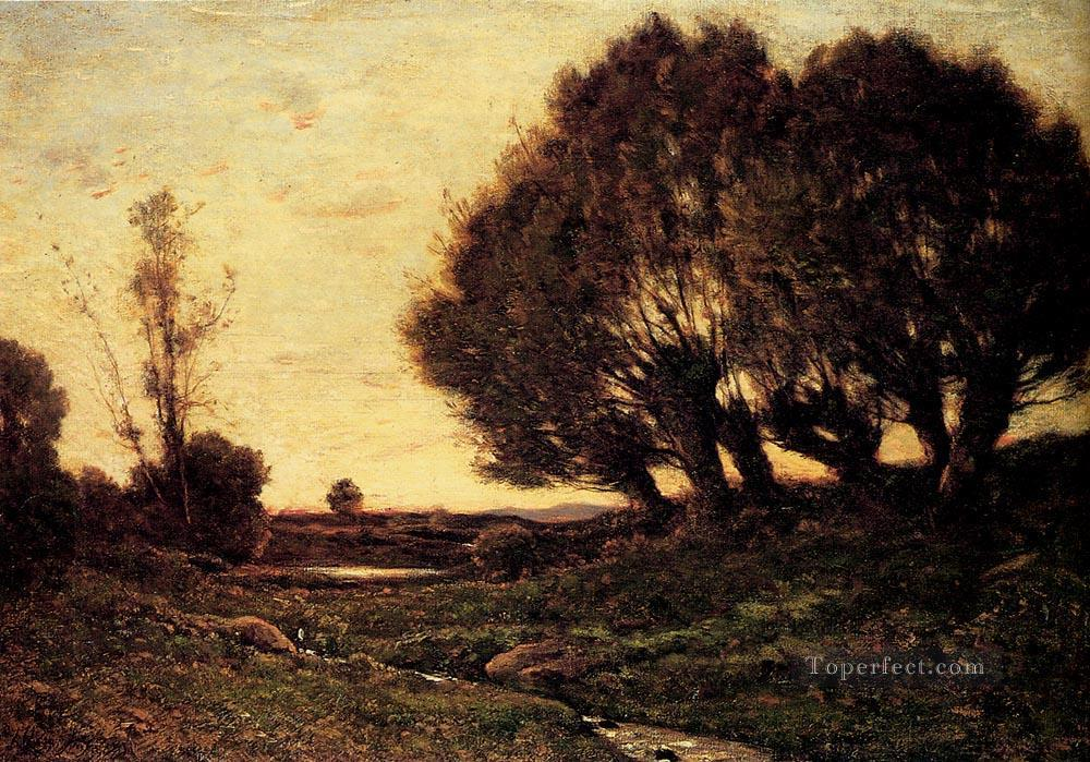 A Wooded Landscape With A Stream Barbizon Henri Joseph Harpignies Oil Paintings