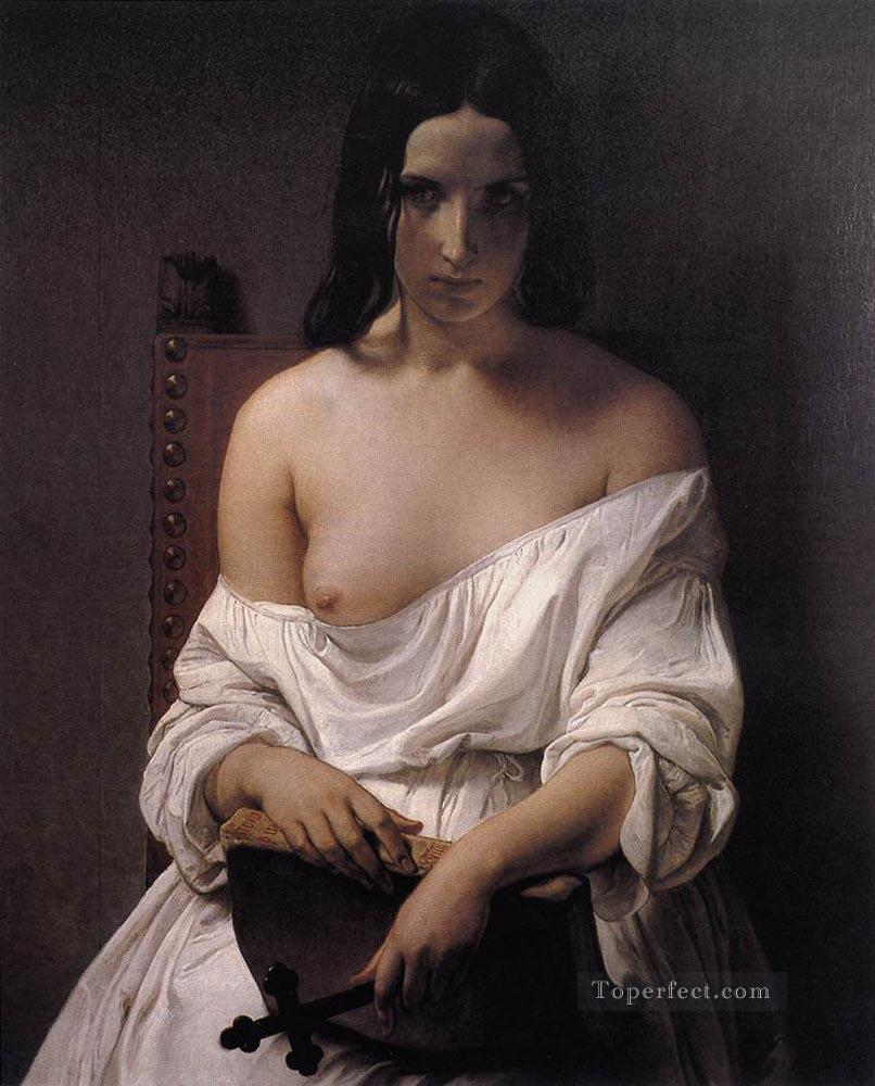 Meditation On The History Of Italy Romanticism Francesco Hayez Oil Paintings