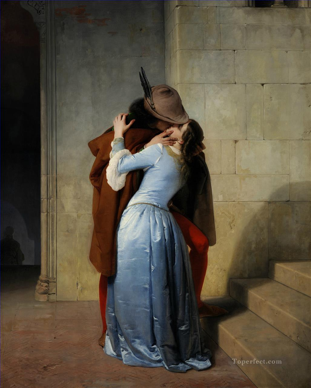 The Kiss Romanticism Francesco Hayez Oil Paintings