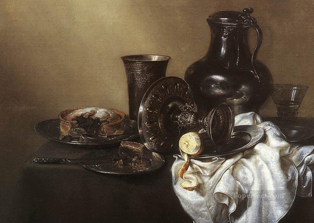 Still Life 1636 Willem Claeszoon Heda Oil Paintings