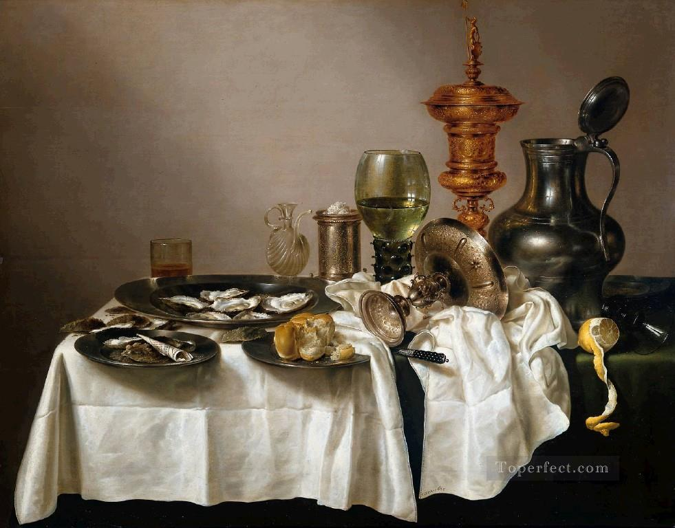 Gilt still lifes Willem Claeszoon Heda Oil Paintings