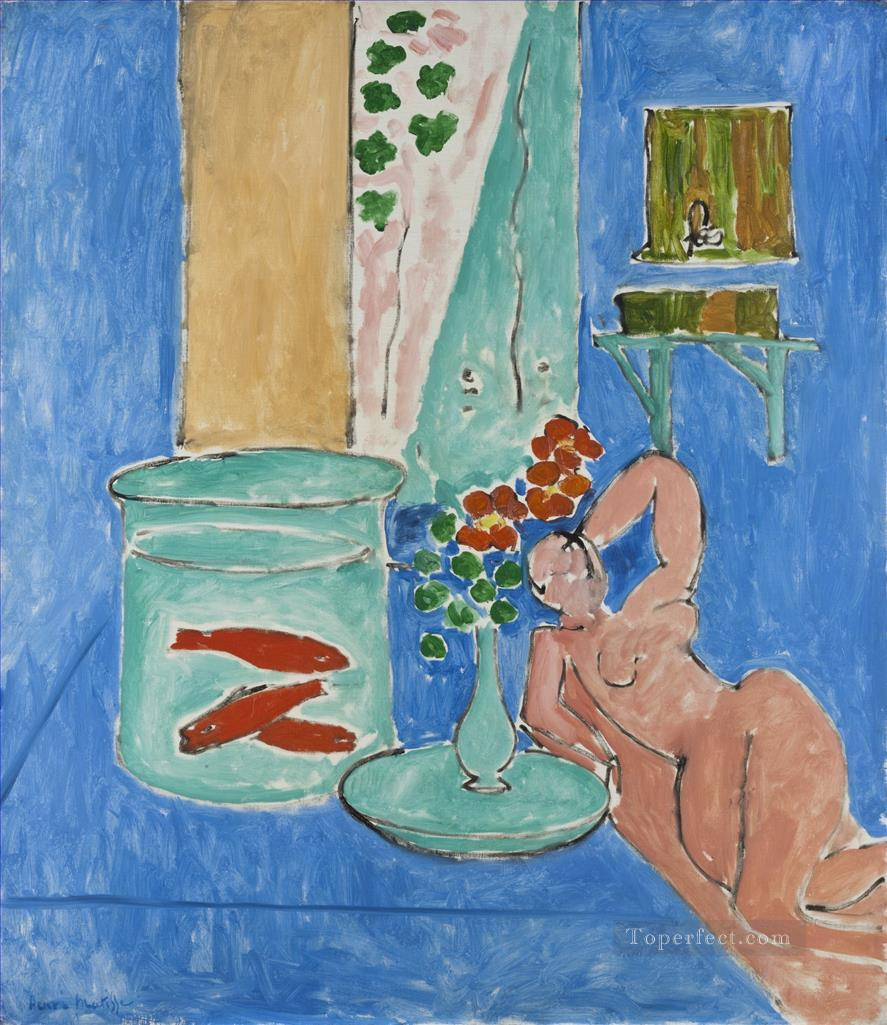 Goldfish and a Sculpture abstract fauvism Henri Matisse Oil Paintings
