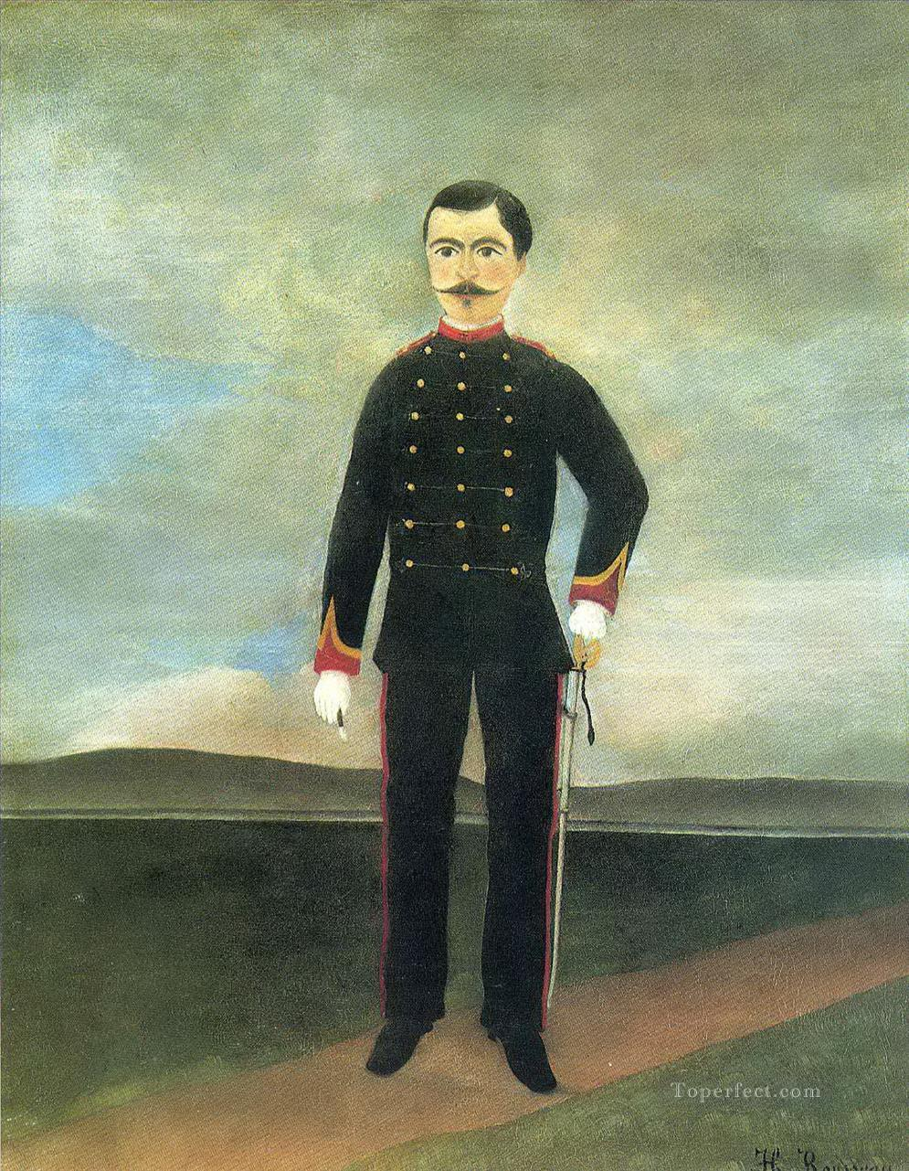 marshal des logis frumence biche of the 35th artillery Henri Rousseau Post Impressionism Naive Primitivism Oil Paintings
