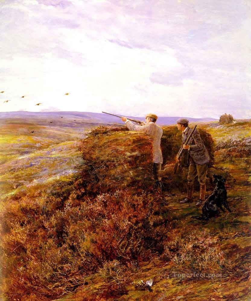 The Grouse Shoot Heywood Hardy horse riding Oil Paintings