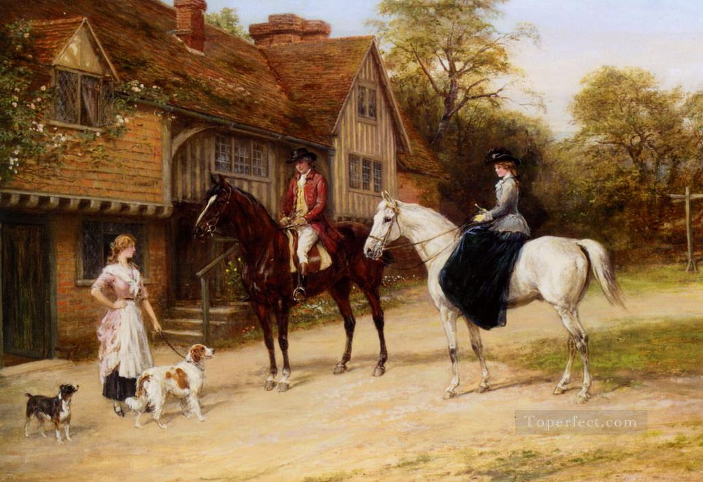 The Gamekeepers Daughter Heywood Hardy horse riding Oil Paintings