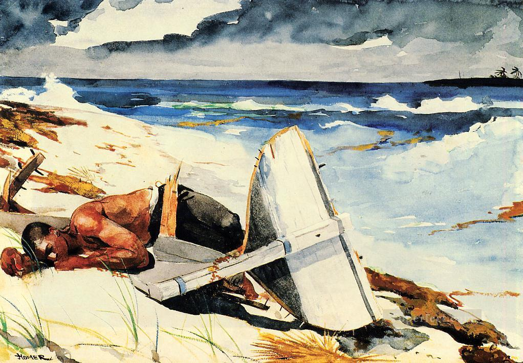 After the Hurricane Realism marine painter Winslow Homer Painting ...