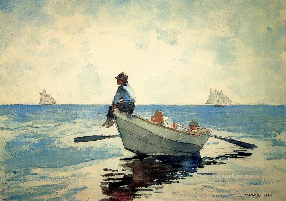 Boys in a Dory2 Realism marine painter Winslow Homer Oil Paintings