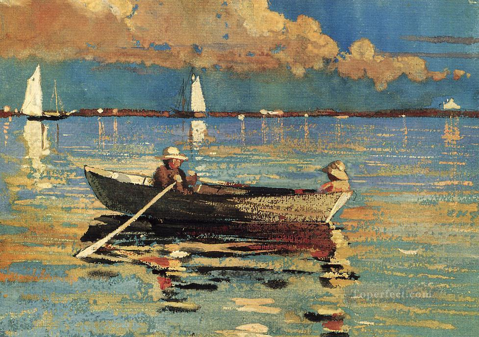 Gloucester Harbor Realism marine painter Winslow Homer Oil Paintings