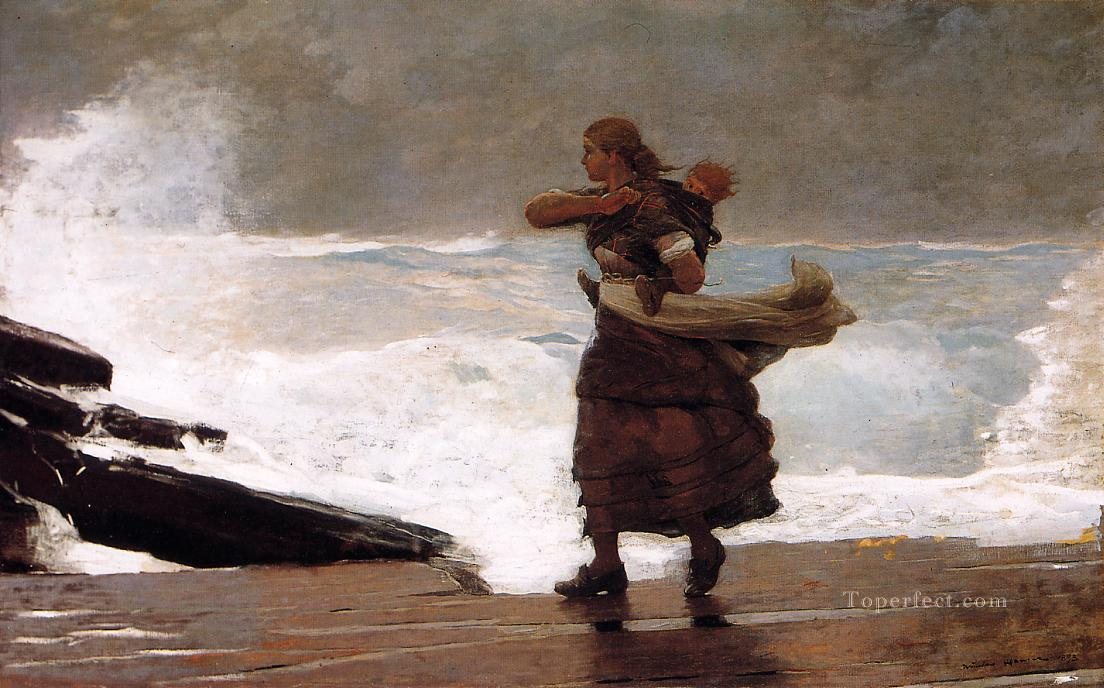 The Gale Realism marine painter Winslow Homer Oil Paintings