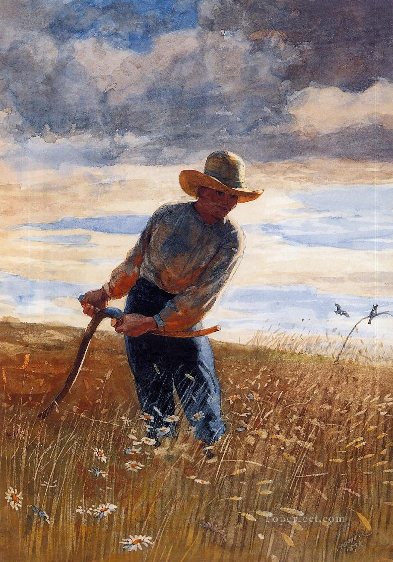 The Reaper Realism painter Winslow Homer Oil Paintings