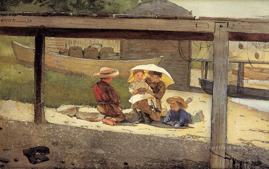 In Charge of Baby Realism painter Winslow Homer Oil Paintings