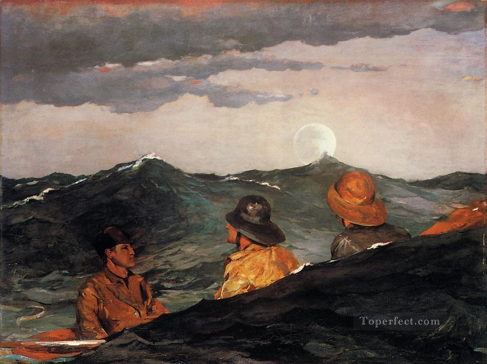Kissing the Moon Realism marine painter Winslow Homer Painting in ...