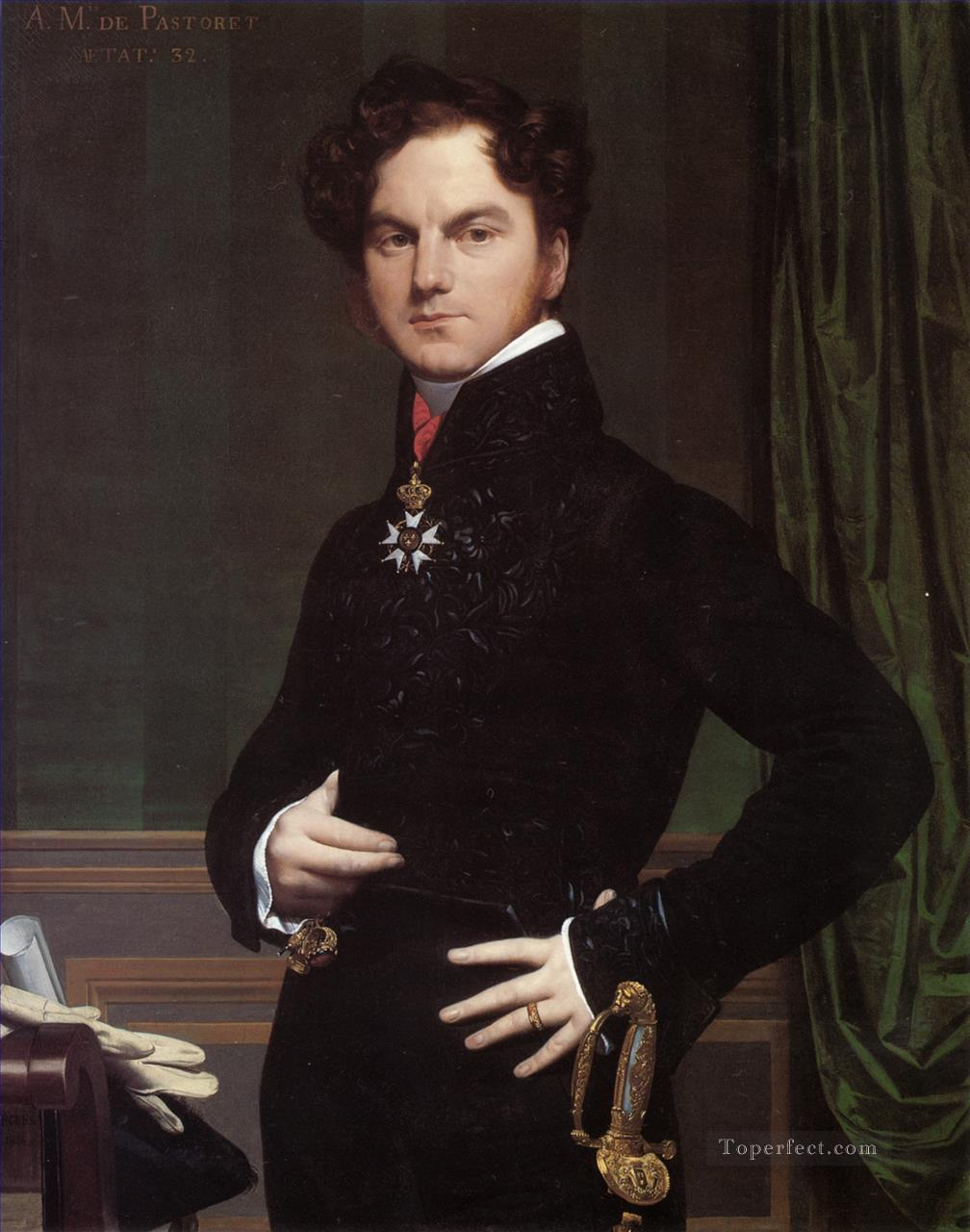 Amedee David Comte de Pastoret Neoclassical Jean Auguste Dominique Ingres Oil Paintings