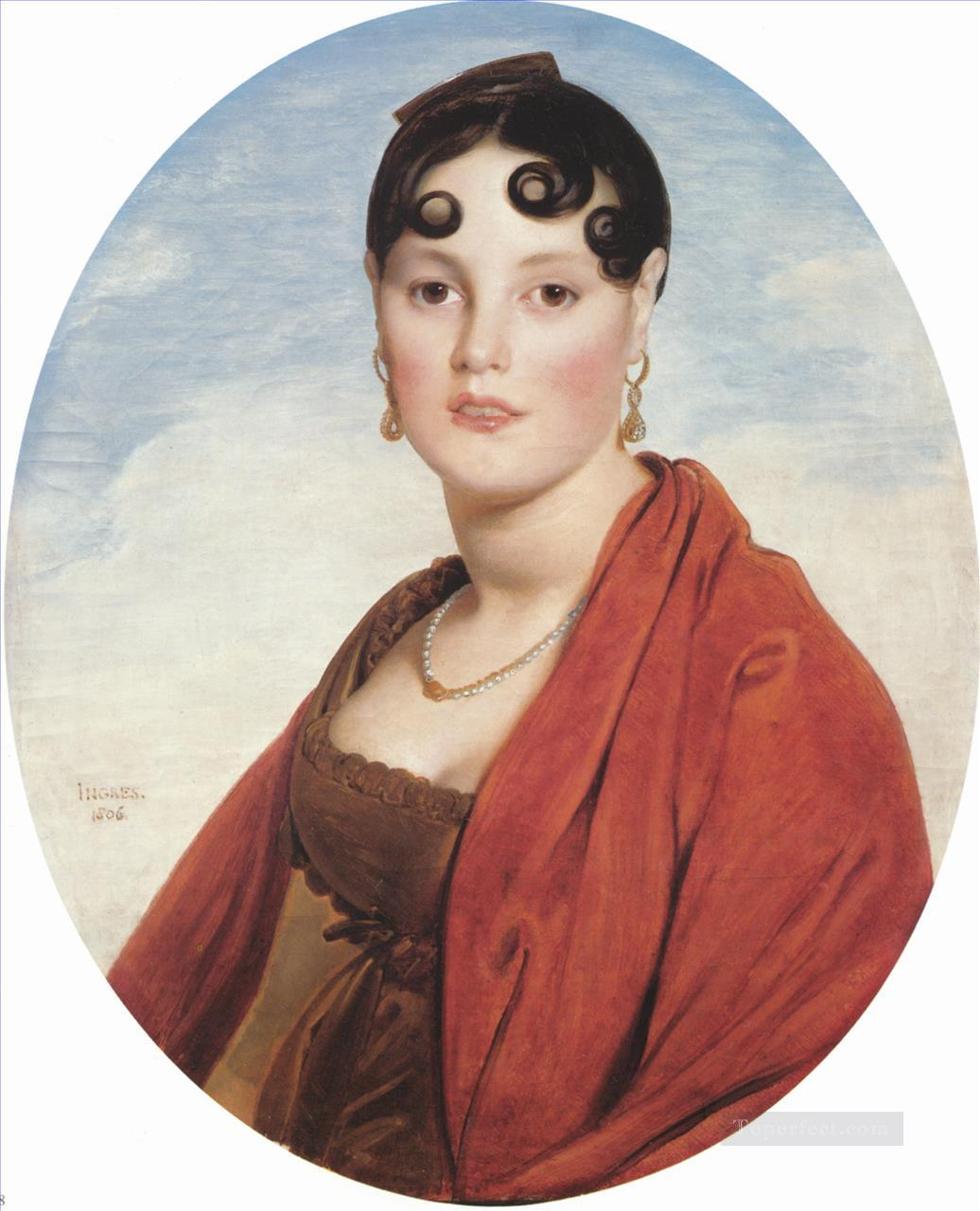 Madame Aymon Neoclassical Jean Auguste Dominique Ingres Oil Paintings