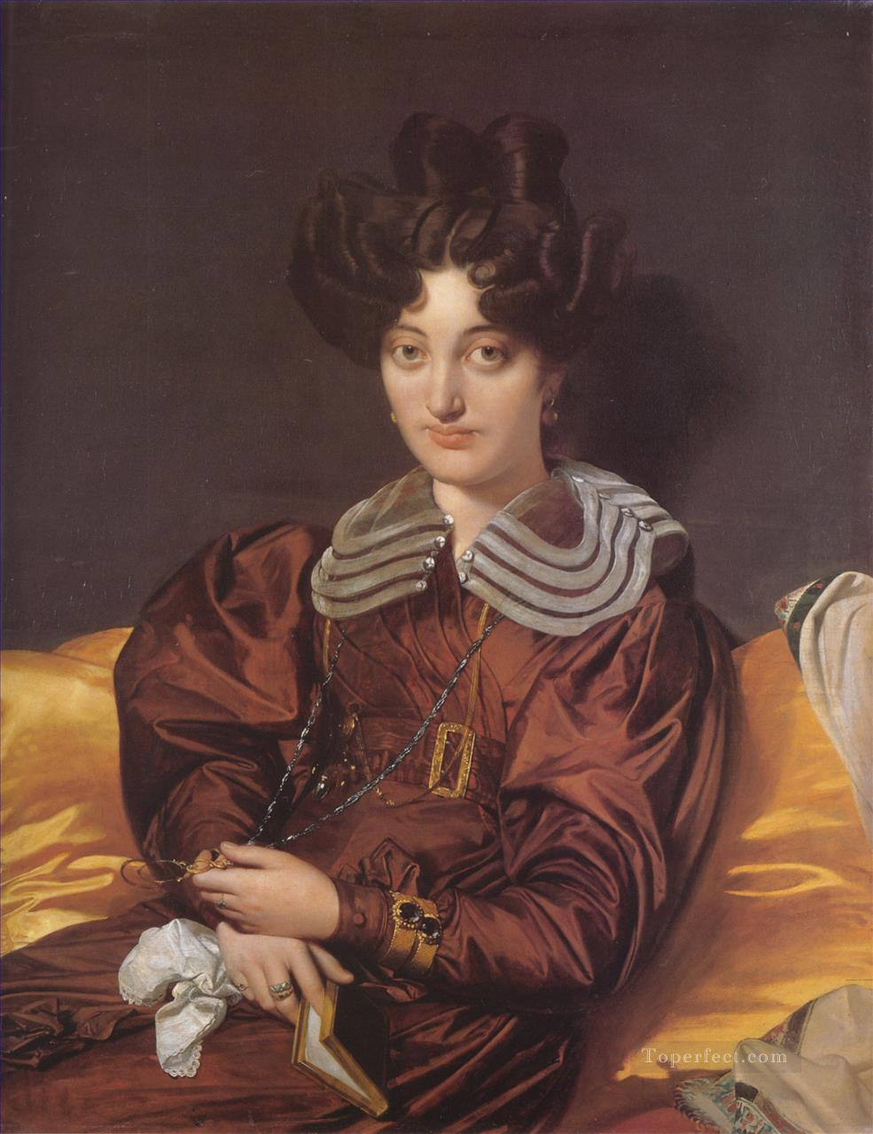 Madame Marie Marcotte Neoclassical Jean Auguste Dominique Ingres Oil Paintings