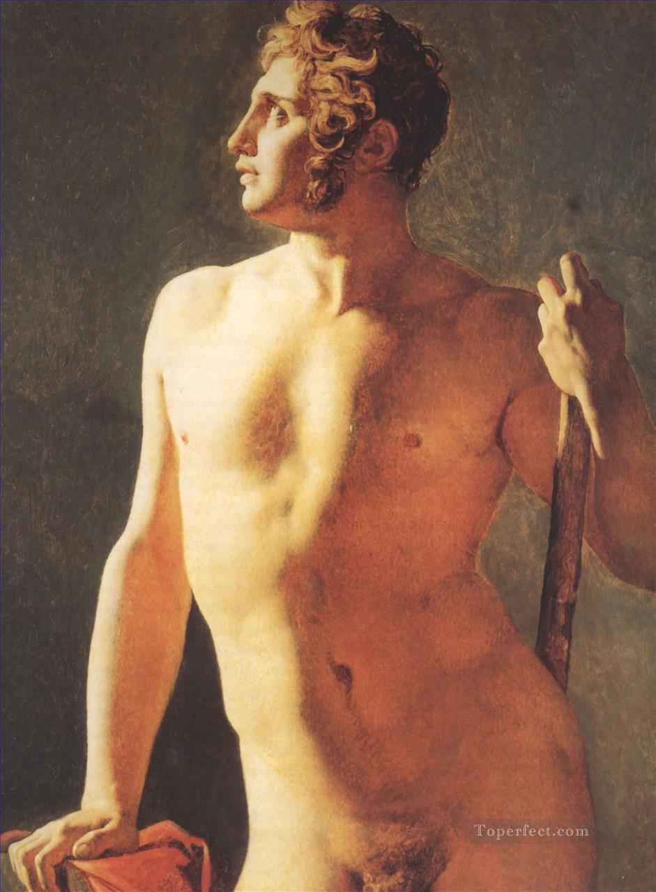 Male Torso nude Jean Auguste Dominique Ingres Oil Paintings
