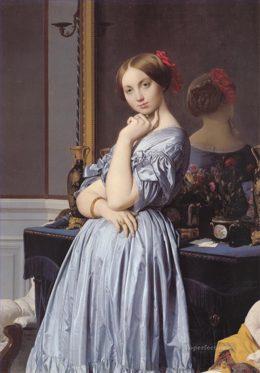 Vicomtesse Othenin dHaussonville Neoclassical Jean Auguste Dominique Ingres Oil Paintings