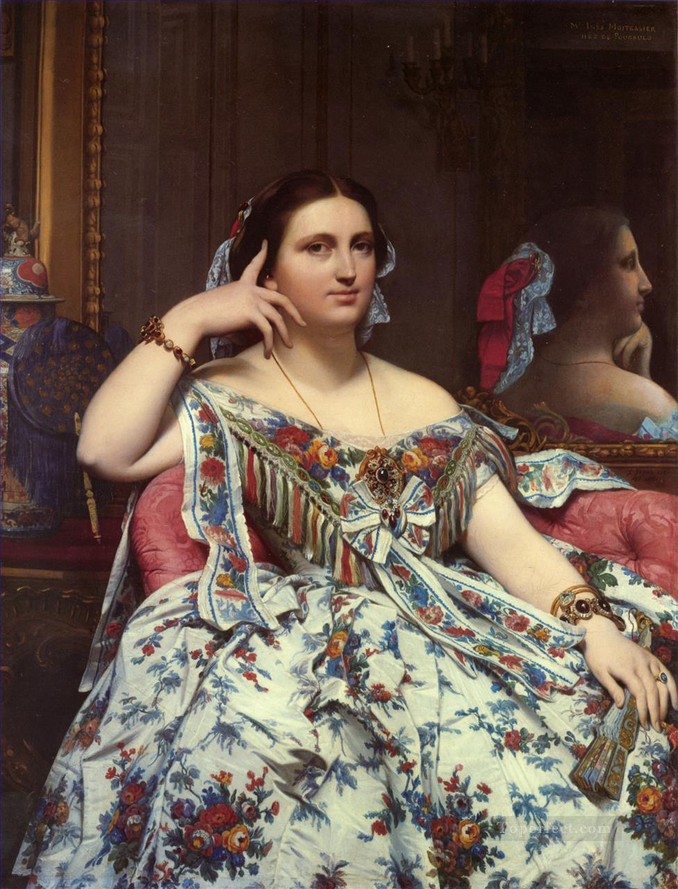 Madame Paul Sigisbert Moitessier Seated Neoclassical Jean Auguste Dominique Ingres Oil Paintings