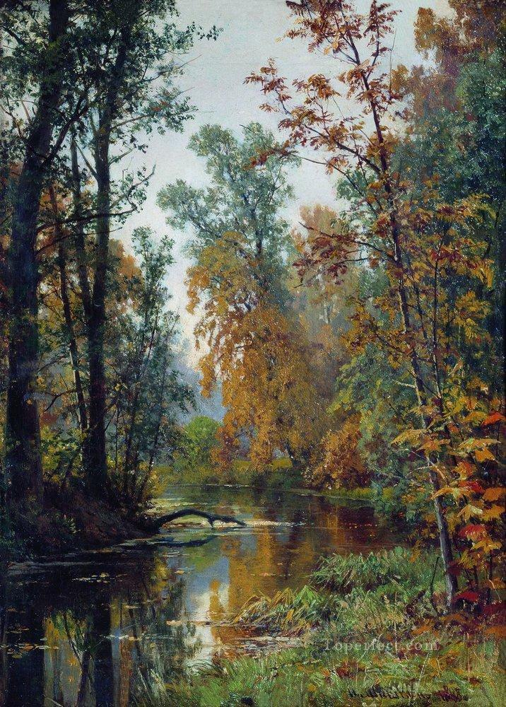 autumn landscape park in pavlovsk 1888 Ivan Ivanovich Oil Paintings