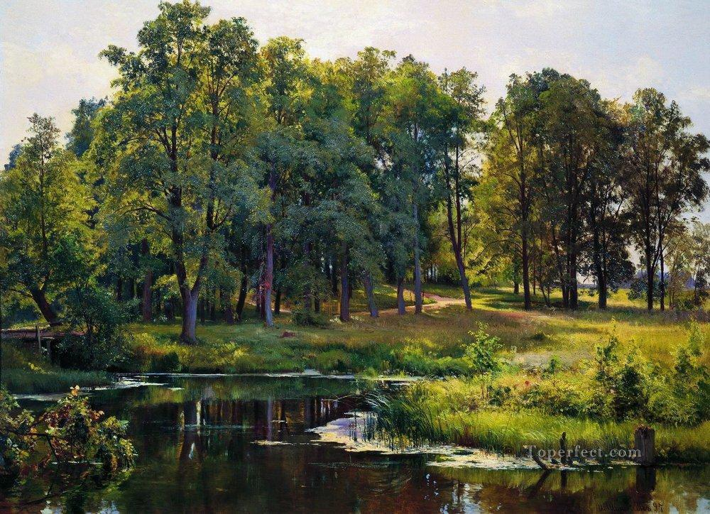 in the park 1897 classical landscape Ivan Ivanovich Oil Paintings