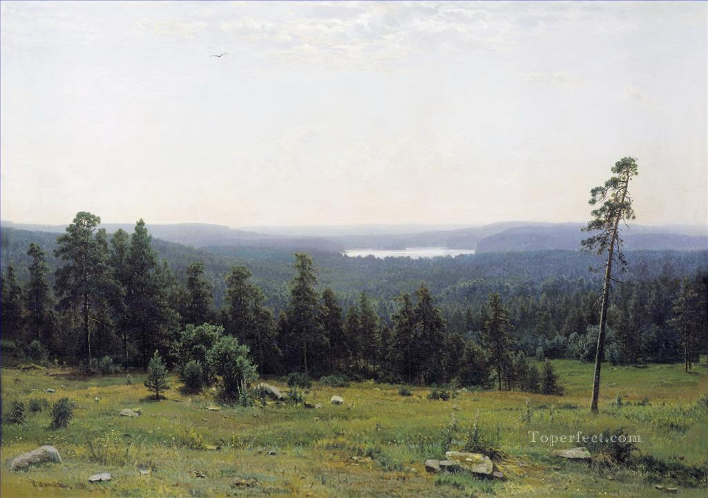 the forest horizons 1884 classical landscape Ivan Ivanovich Oil Paintings