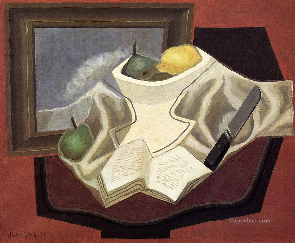 the table in front of the picture 1926 Juan Gris Oil Paintings