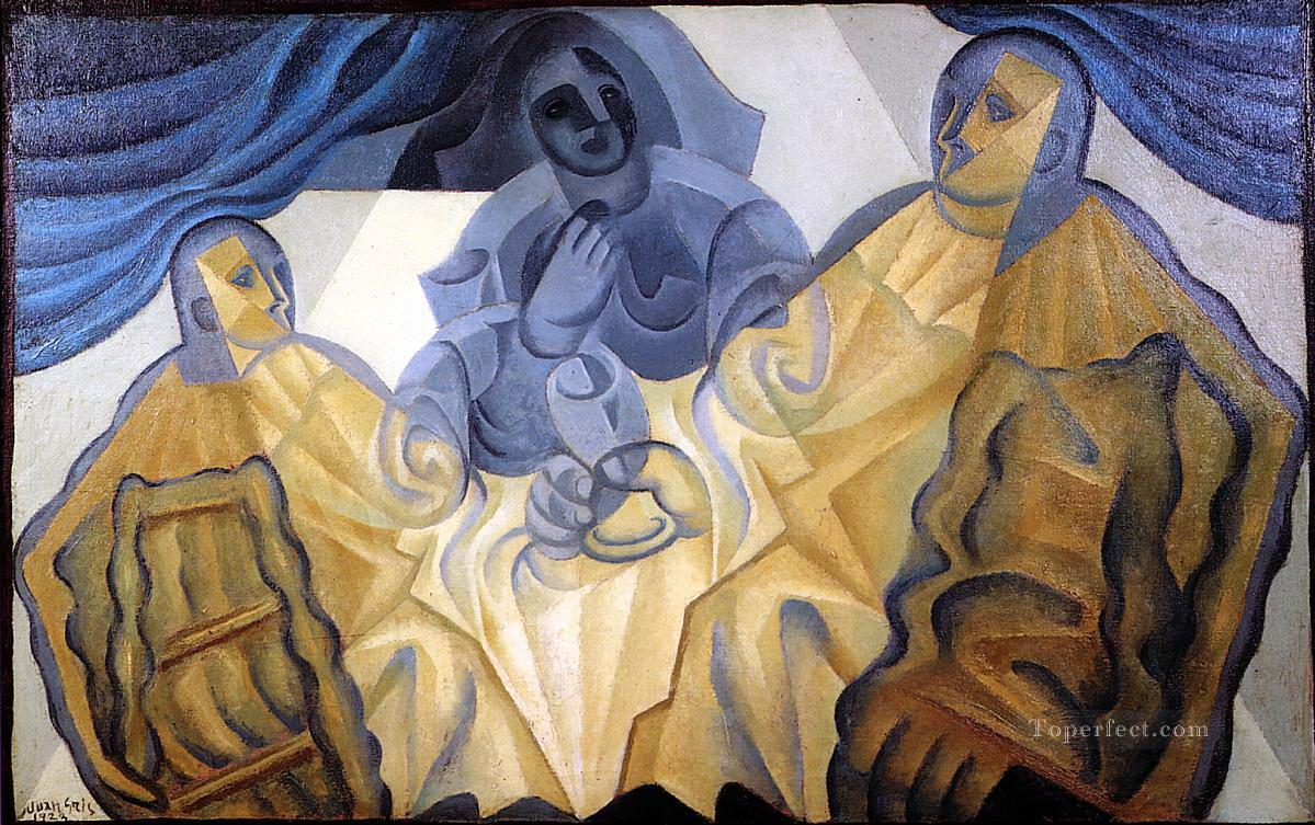 the three masks 1923 Juan Gris Oil Paintings
