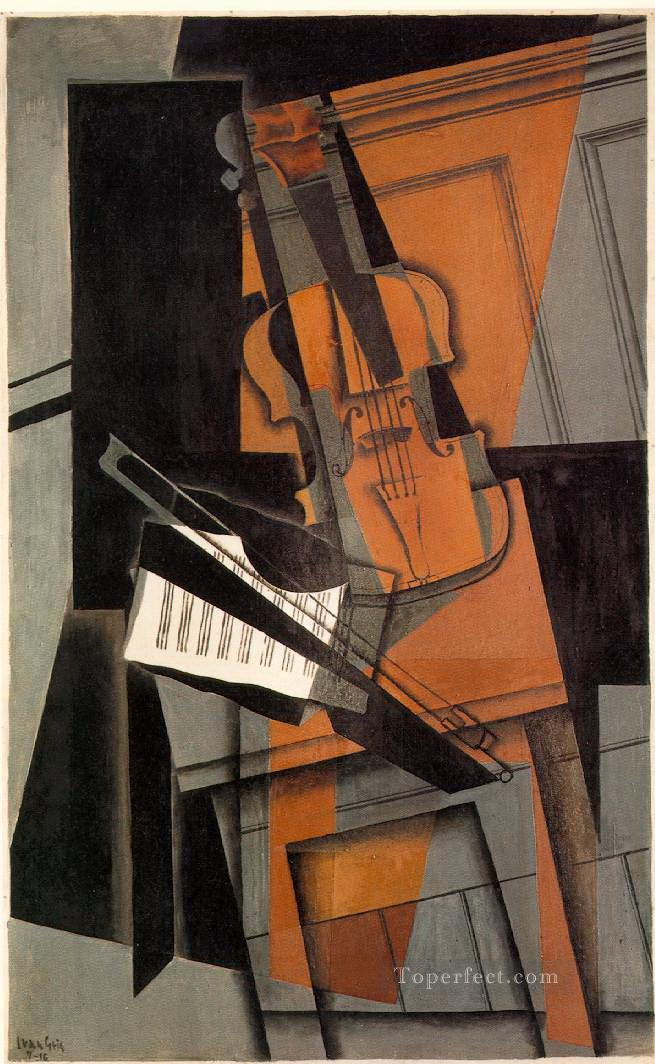 the violin 1916 Juan Gris Oil Paintings