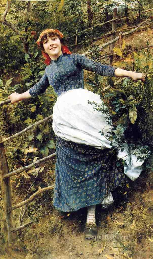 A Summers Folly countrywoman Daniel Ridgway Knight Oil Paintings