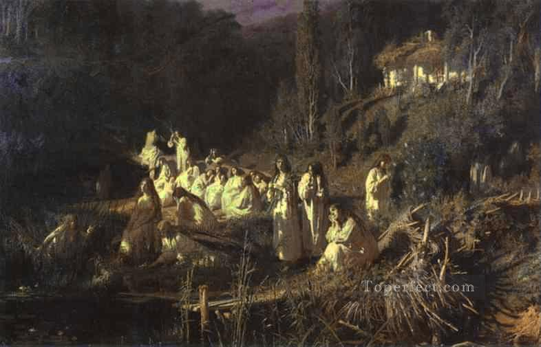Mermaids Democratic Ivan Kramskoi Oil Paintings