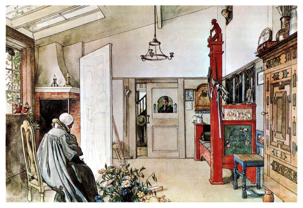 The Studio Carl Larsson Oil Paintings