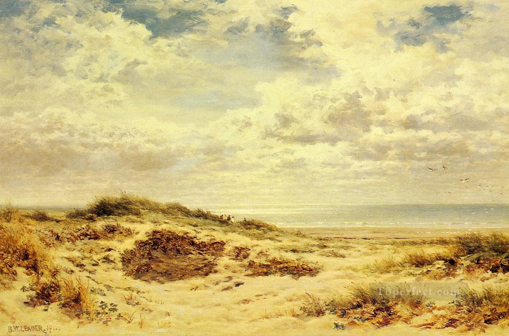 Morning On The Sussex Coast Benjamin Williams Leader Oil Paintings