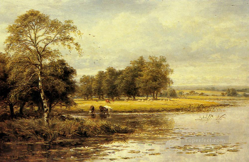 On The Thames Benjamin Williams Leader Oil Paintings