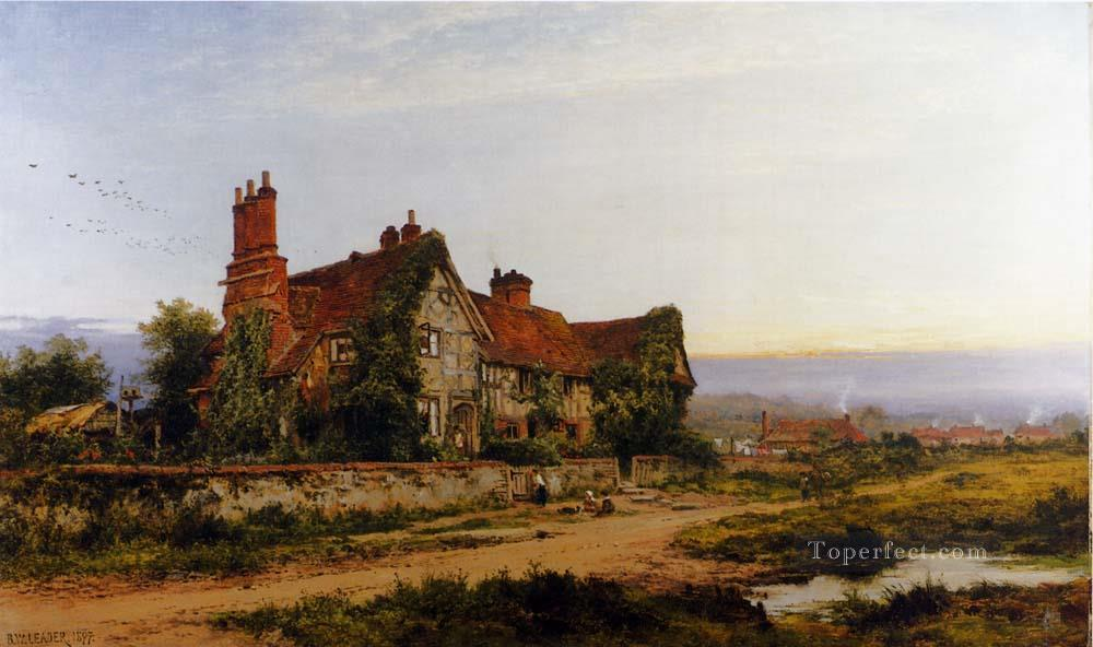 An Old Surrey Home Benjamin Williams Leader Oil Paintings