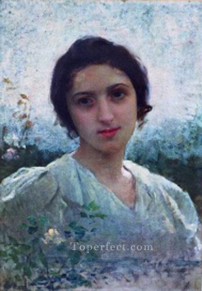 Eugenie Lucchesi realistic girl portraits Charles Amable Lenoir Oil Paintings
