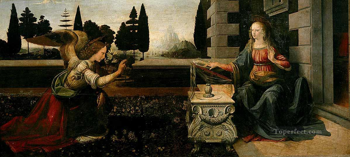 The Annunciation Leonardo da Vinci Oil Paintings