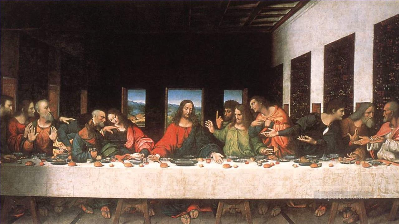 Last Supper Copy Leonardo Da Vinci Painting In Oil For Sale