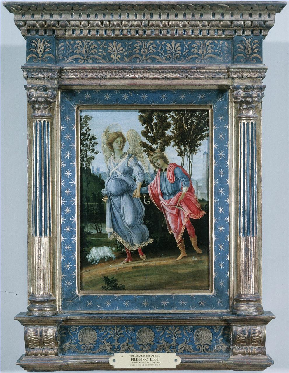 Tobias and the angel Christian Filippino Lippi Oil Paintings