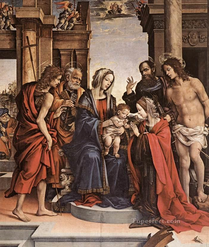 The Marriage of St Catherine 1501 Christian Filippino Lippi Oil Paintings