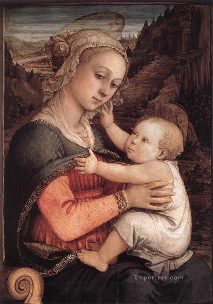 Madonna And Child 1460 Renaissance Filippo Lippi Oil Paintings