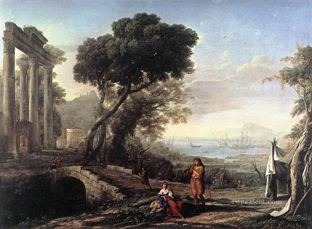 Italian Coastal Landscape landscape Claude Lorrain Oil Paintings