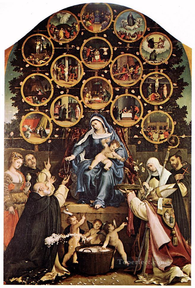 Madonna of the Rosary 1539 Renaissance Lorenzo Lotto Oil Paintings