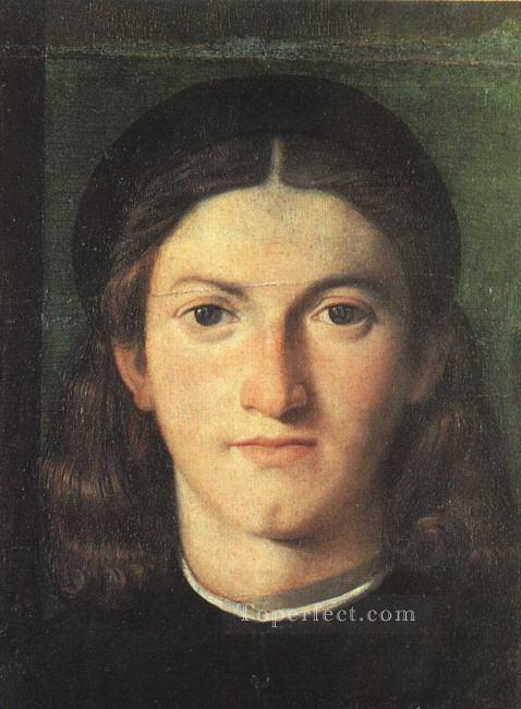 Head of a Young Man Renaissance Lorenzo Lotto Oil Paintings