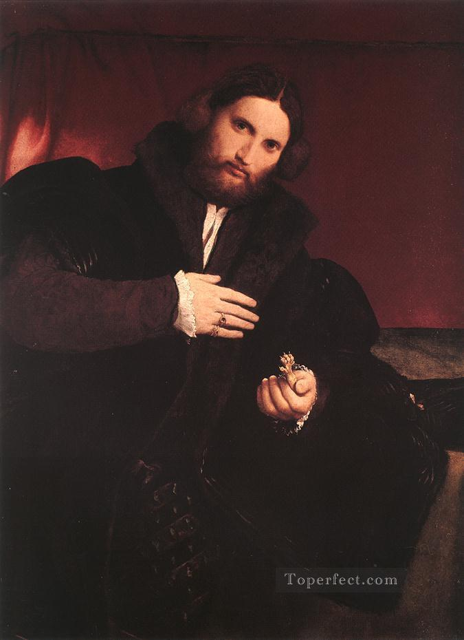 Man with a Golden Paw 1527 Renaissance Lorenzo Lotto Oil Paintings