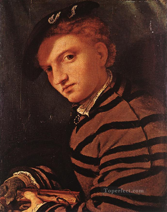 Young Man with Book 1525 Renaissance Lorenzo Lotto Oil Paintings