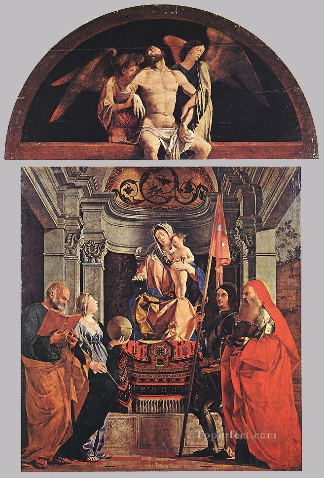 Madonna and Child with Sts Peter Christine Liberale and Jerome Renaissance Lorenzo Lotto Oil Paintings