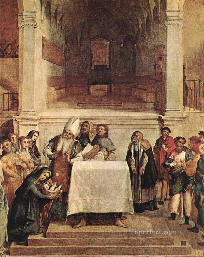 Presentation on the Temple 1554 Renaissance Lorenzo Lotto Oil Paintings