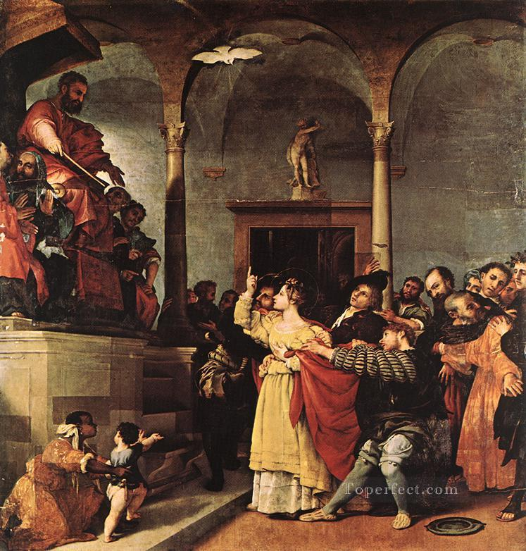 St Lucy before the Judge 1532 Renaissance Lorenzo Lotto Oil Paintings